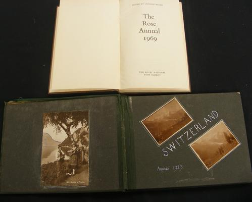 Vintage photo album & The Royal National Rose Society book