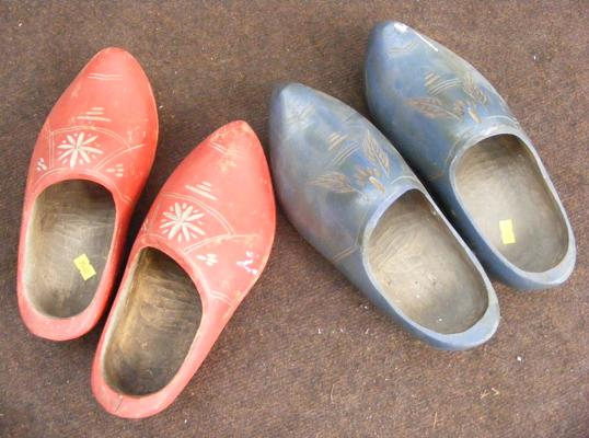 2x Sets of wooden clogs