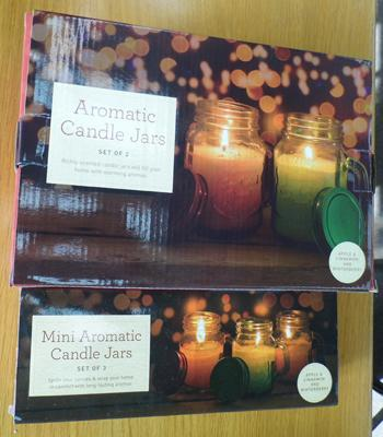 2x New sets of aromatic candles - 75 and 30hr burning time
