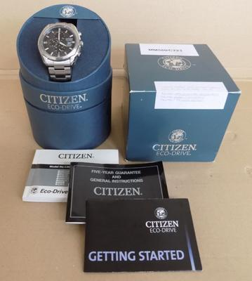 Citizen Eco-drive gents watch, in box with paperwork w/o