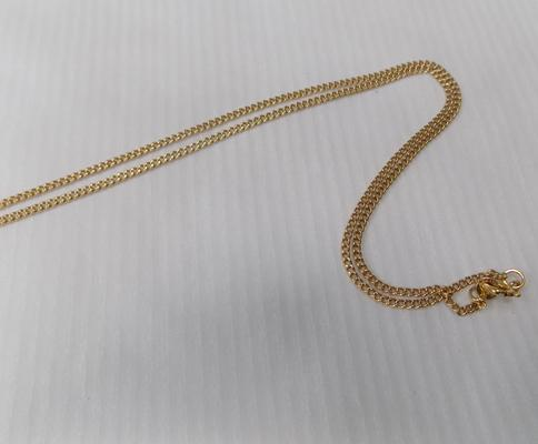 750/18ct gold chain approx 7.5g (faulty clasp)