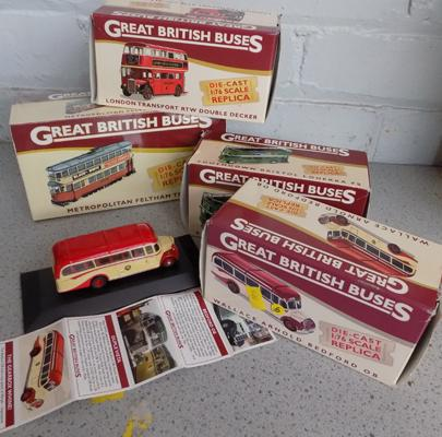 4x Great British buses-all boxed