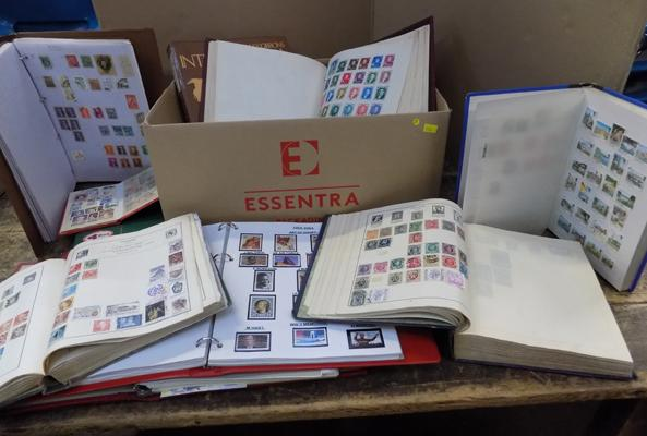 Large selection of world stamp albums and folders