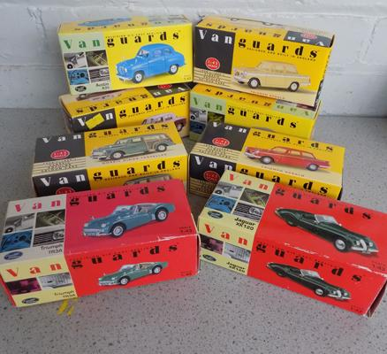 8x Vanguard vehicles-all boxed