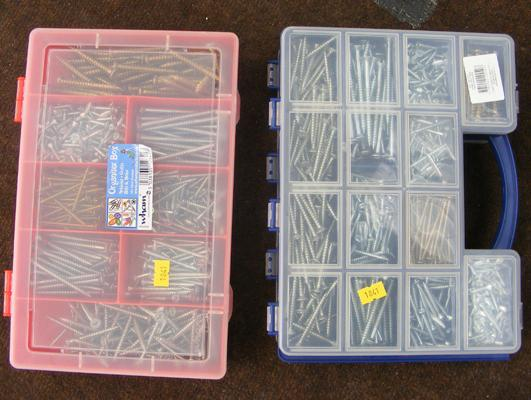 2x Boxes of assorted screws - new