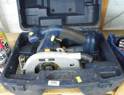P-Pro 18V circular saw in case - no battery or charger