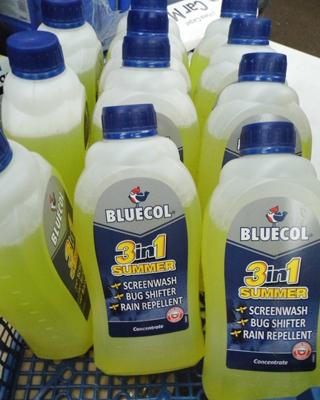 11x Bottles of '3 in 1' screen wash