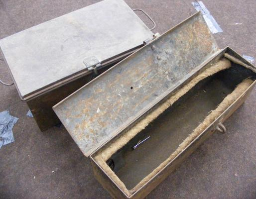 Tractor tool box and 1 other small trunk