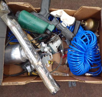 Box of mixed tools incl. torque wrench