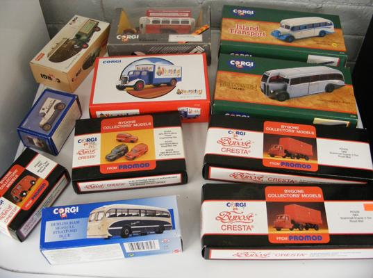 11x Various Corgi buses, cars & lorries-all boxed & mint