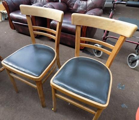 Pair of Artex Hungarian retro chairs-good condition
