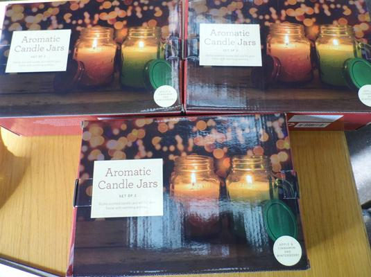 3x New sets of 2 large aromatic candles - 75hr per candle