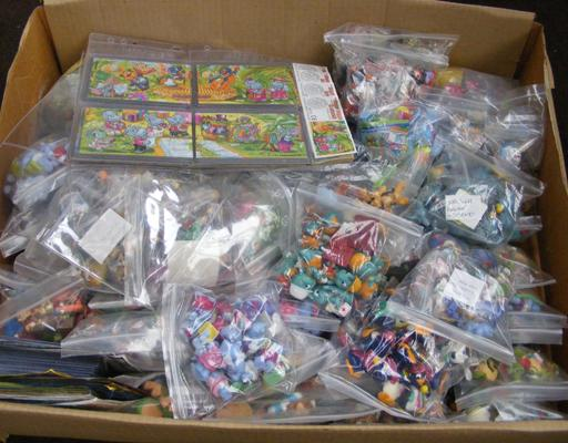 Large box of Kinder Surprise toys