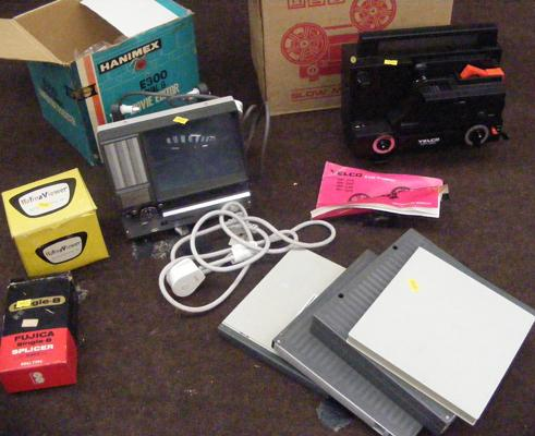 Collection of projectors inc film & slide (requires new bulb) & splicer