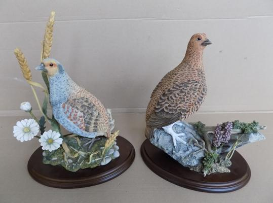 Country artists red grouse and grey partridge