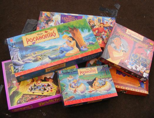 Selection of board games incl. Pocahontas etc.