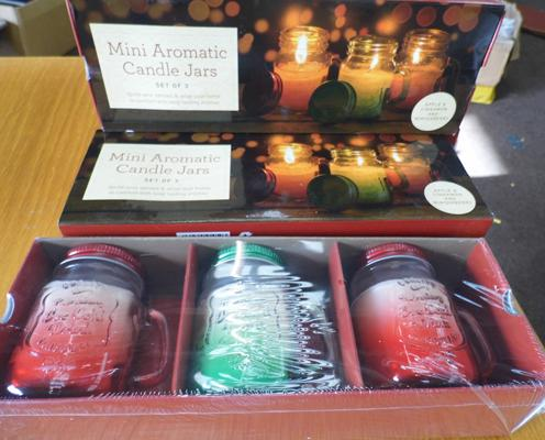 3x New sets of 3 aromatic candles