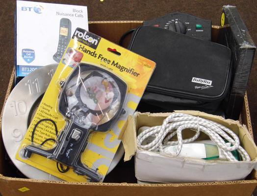 Box of mixed electrical items
