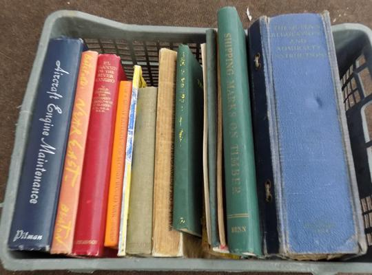 Collection of vintage books incl. Queen's regulation and Admiralty instructions
