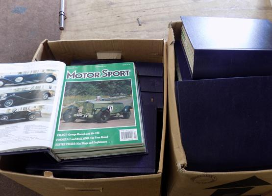 Large collection of Motor Sport magazines in binders 1980-1997 era