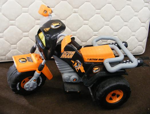 Battery operated Action Man trike