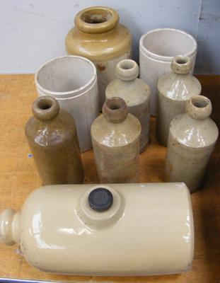 Collection of stone ware jars
