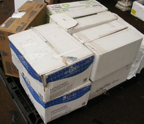 Pallet of new paper towels