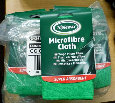 12x New microfibre cleaning cloths
