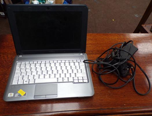 Sony Vaio notebook model PCG-21313M and charger