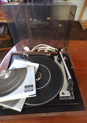 Vintage BSR McDonald record player - unchecked