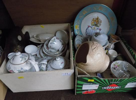 Mixed collectable ceramics inc Aynsley, Winterling, Crown Devon, Paragon Bridal rose tea set etc