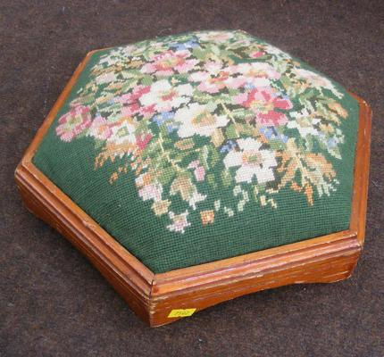 Small floral foot stool