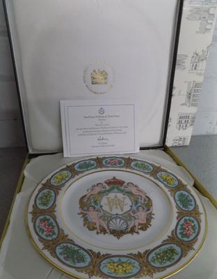 Minton Prince William Mulberry plate - no.37