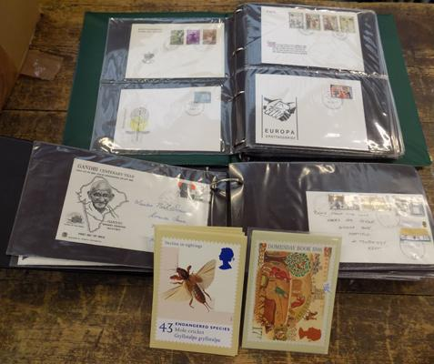 2x Albums of first day covers plus some loose