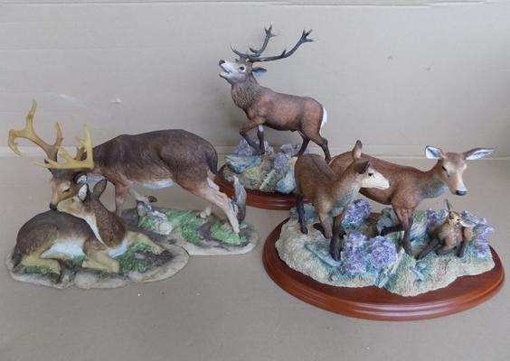 2x Border Fine Art British mammals, Stag and Hinds and 1 other