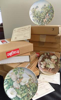 Set of Danbury Mint plates-all boxed, all with certificates