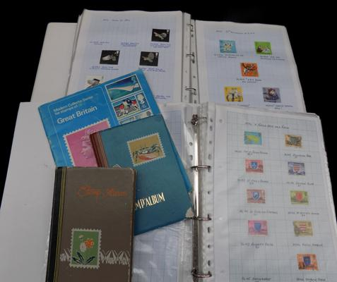 5x Stamp albums inc Channel Islands