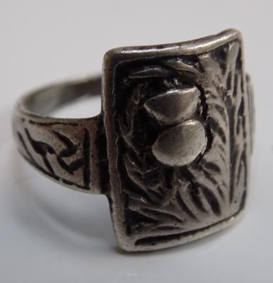 Antique Scottish arts & crafts style thistle ring