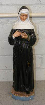 Nun figurine-Mother Superior with rosary beads approx 16 inches tall