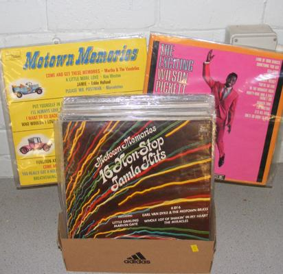 Box of mainly Soul & Reggae LP records
