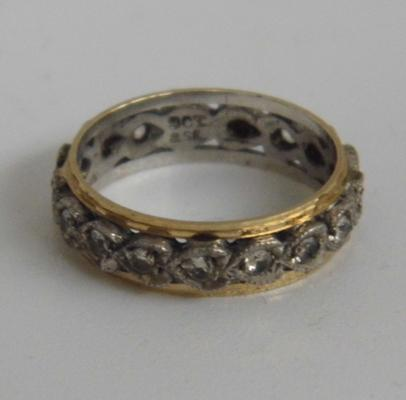 9ct gold/silver eternity ring