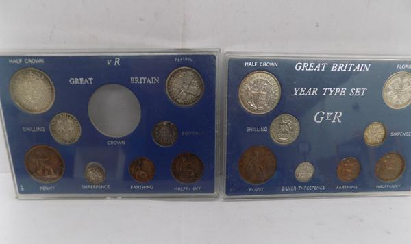 Cased Victorian & George V coins