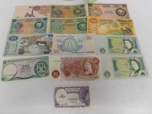 Selection of paper currency