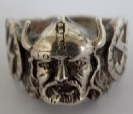 Sterling silver Nazi SS viking ring