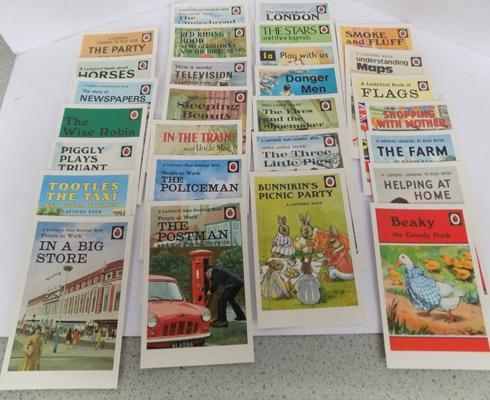 Large selection of Ladybird book postcards (over 30)