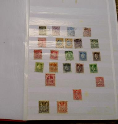 Stock book of New Zealand stamps from Queen Victoria