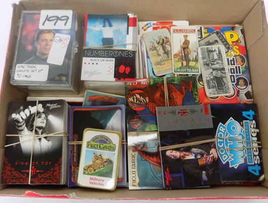 Collectable cards, incl. Dr Who, Star trek, Michael Jackson, Inkworks etc...