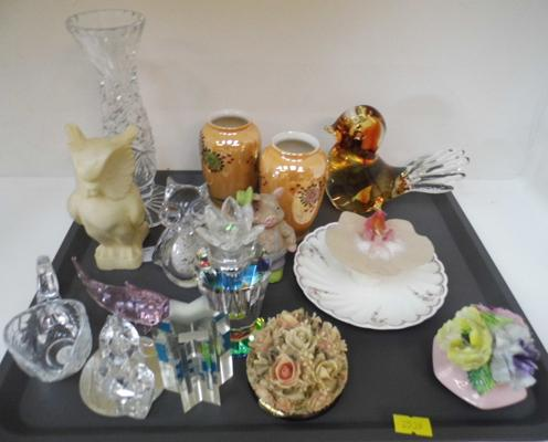 Tray of mixed inc cut glass etc