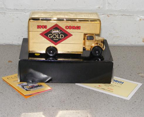 Rare gold Corgi classic boxed with certificate no.761 of 1000