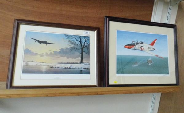2x Framed prints of military planes